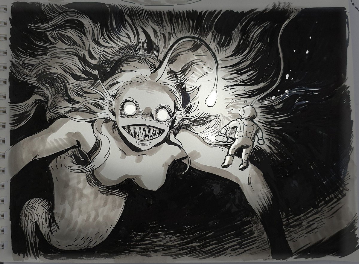RT @PremaJa_Art: Deep Sea Mermaid #mermay2019 #mermay https://t.co/9C8KO5SS95
