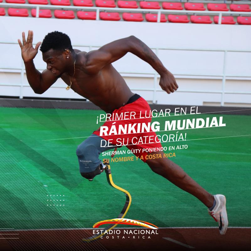 ¡Gracias @GuitySherman por ser un ejemplo de que los límites se pueden superar! 🥇🥇 Felicidades por tu medalla de oro y nueva marca en el ranking mundial en los 200 metros planos del Grand Prix Mundial de Para Atletismo. 👏🏼💥 #paraatletismo #costarica