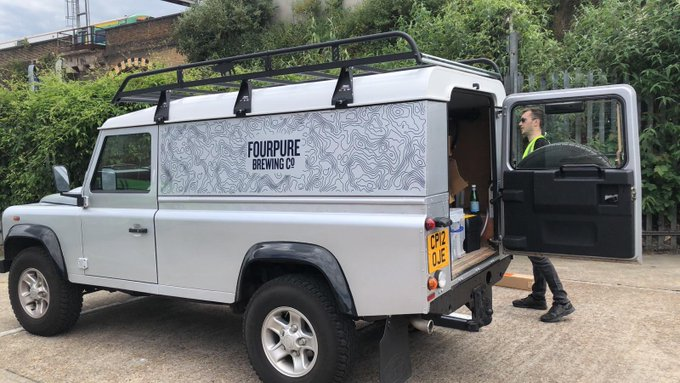 Image for Did someone call the beer mobile?! No? Oh, there must be something wrong with our beer phone. Well, while we're here we might as well show off our Land Rover's new AWESOME branding ???? #beeronwheels https://t.co/qYUIbDZbrX