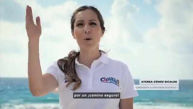 La prioridad de @Atenea_GomezR es tu seguridad, salud y el bienestar de tu familia, VOTA por un #CaminoSeguro #Distrito1 #QuintanaRoo #EligeBIENVotaPAN