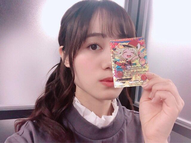 今日いただきました!6月8日に発売の神バディファイト「BanG Dream! ガルパ☆ピコ」♡ キラキラこころです☺︎(みく)