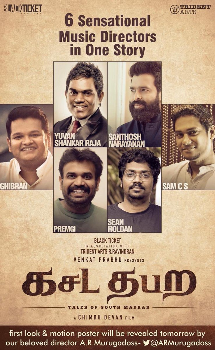 First of its kind and all my favs together @Music_Santhosh @thisisysr @RSeanRoldan @GhibranOfficial @Premgiamaren @SamCSmusic 😄Kudos @vp_offl @chimbu_deven @blacktktcompany 😀 #kasadatabara