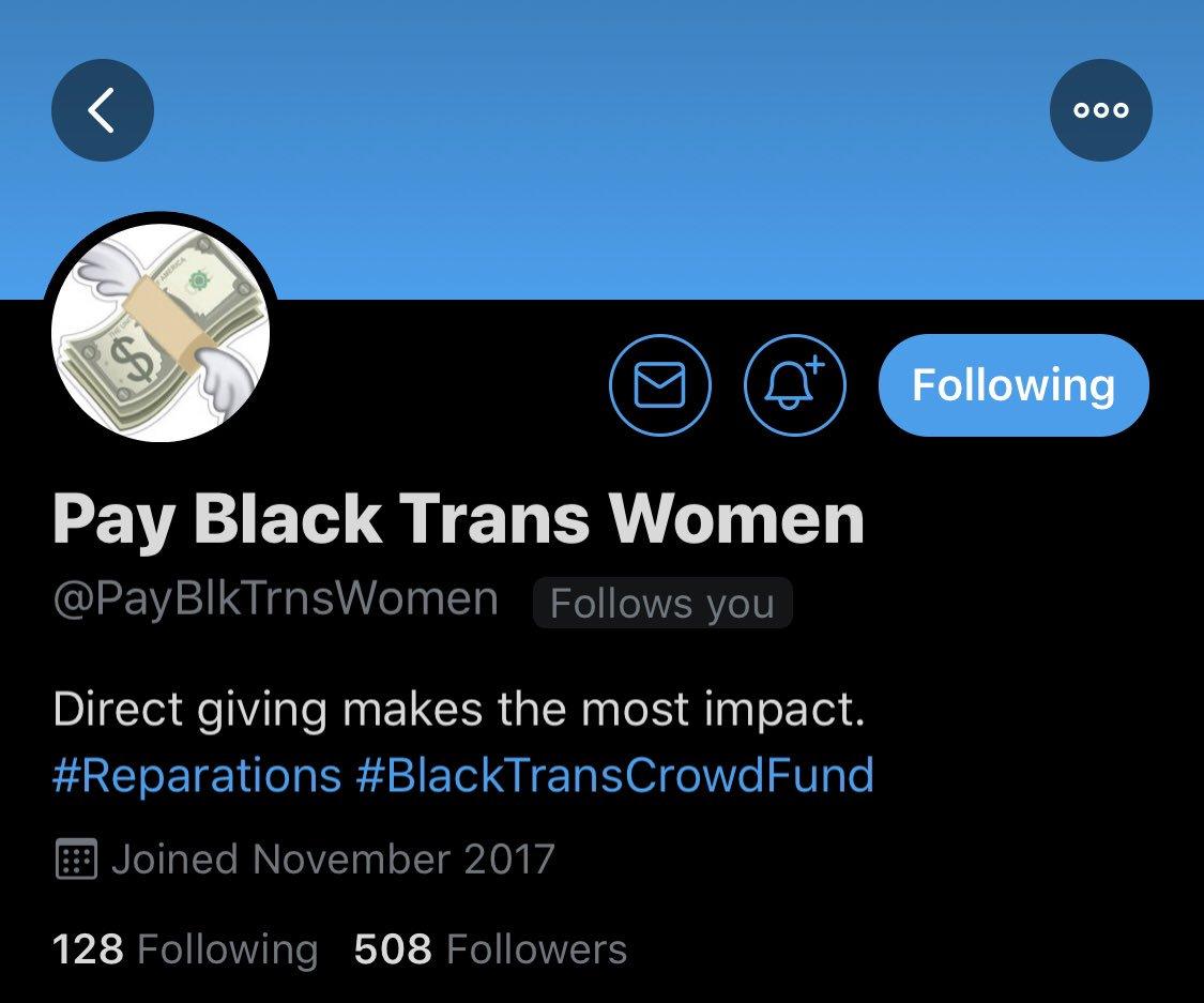 make sure you're following @PayBlkTrnsWomen!