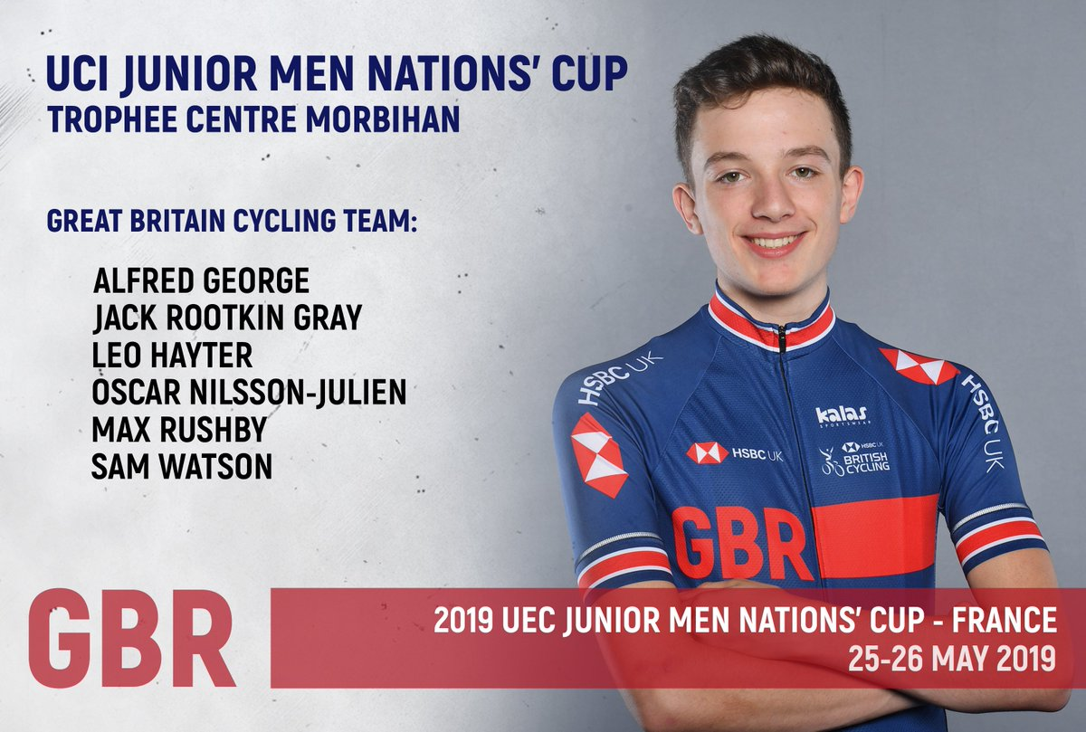 The Great Britain Cycling Team are in action all over Europe this weekend 🇬🇧  Here is the team competing in the @UCI_cycling Junior Men Nations' Cup in France ⬇️