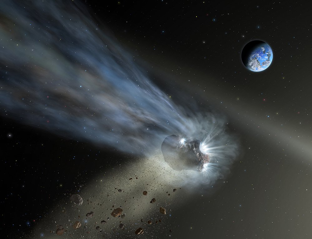 "Why does Earth have so much water, allowing our ""blue marble"" to support an astounding array of life? Comets provide new clues: go.nasa.gov/2Qprnn6"