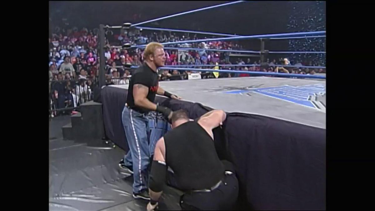 "ON THIS DAY: ""The Wall"" drove #ShaneDouglas straight through the announce table on #WCWThunder in 2000! http://wwe.me/IWKa1T"