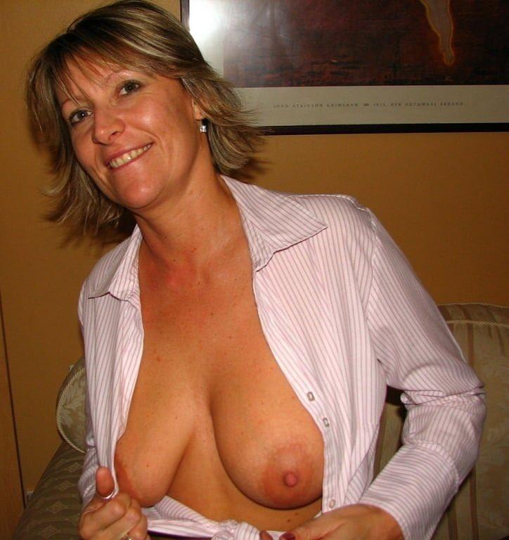 Unbuttoned Blouse No Bra