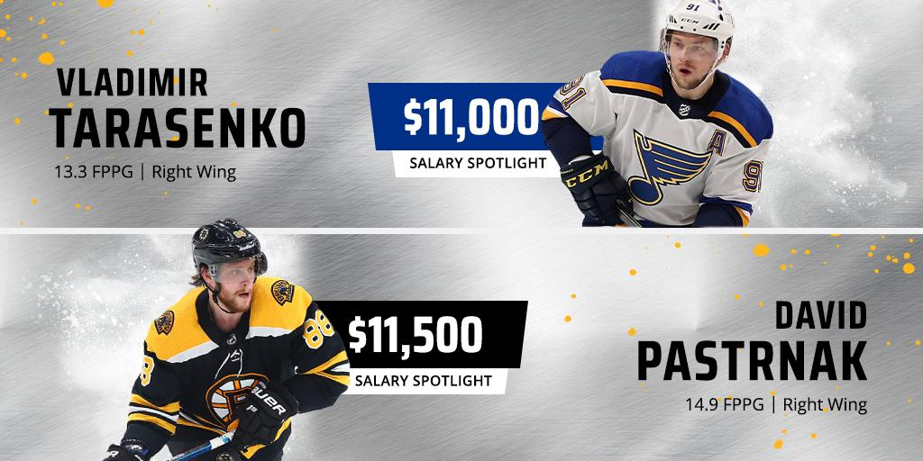 The top two priced right wingers square off Monday night for the #StanleyCup Final.  Who are you building your Showdown lineups around?
