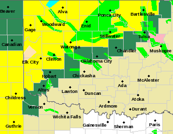 Tornado Watch up for western thru northern OK and Flash Flood Watch too!  Scattered to numerous t&#39;storms western thru northern OK this afternoon / evening.  Some severe with flash flooding rain possible!  Biggest concern flooding northern Ok! #okwx<br>http://pic.twitter.com/kJ67hWv6SW