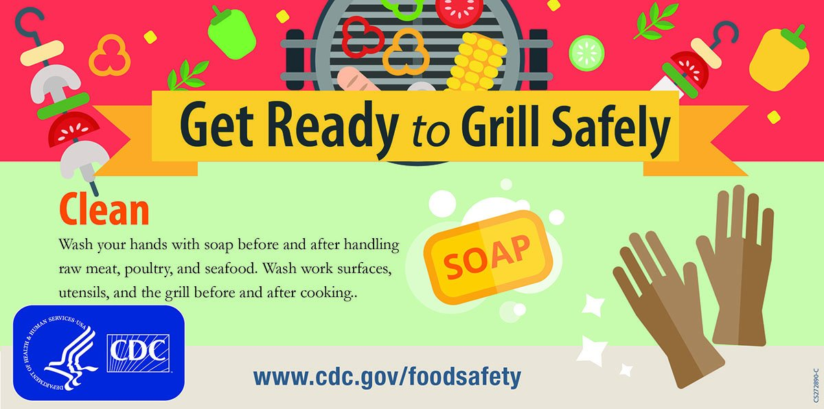 Remember to wash your hands before and after preparing food. #FoodSafety #MemorialDayWeekend https://go.usa.gov/xmZ5c