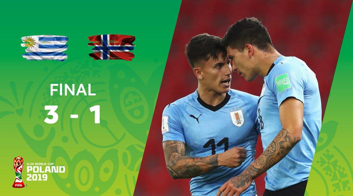 ¡Triunfo Celeste! Uruguay 🇺🇾 venció 3-1 a Noruega 🇳🇴 en su estreno en el Mundial Sub-20. #U20WC