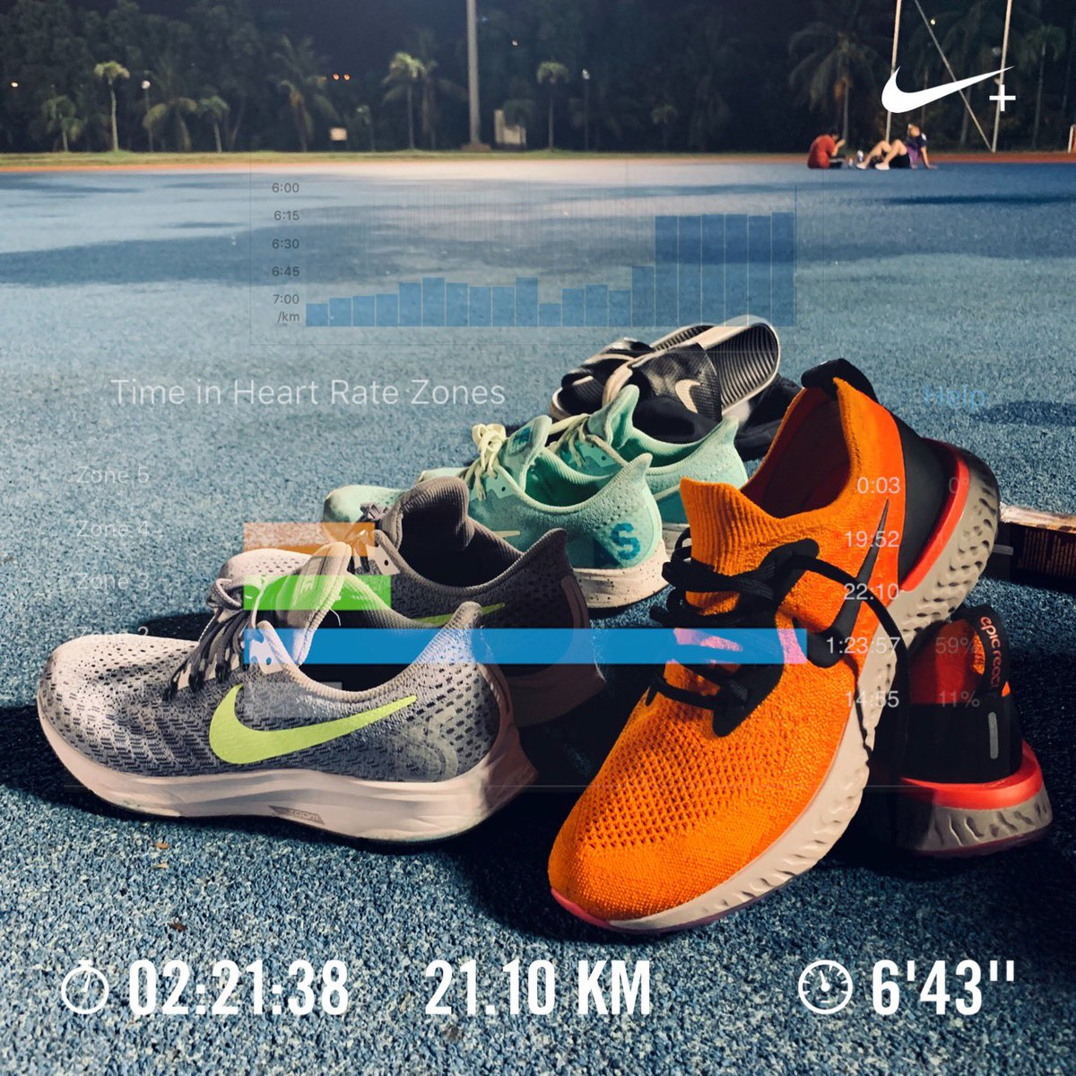 Friday Night Oval Grinders. With @mohamadarsi  - Long Progressive Aerobic Half - 3000 x 2 @ AT (~6:15)  #SwooshTeam #NikeRunning  #OvalOffice #RNMDHND19<br>http://pic.twitter.com/oBD1fyzD3O