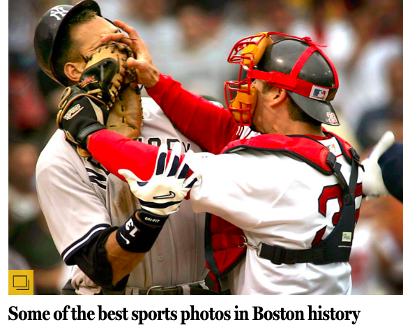 Best Boston sports photo? Who's playing for second? (borrowing the best Boston sports quote). #RedSox
