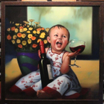 Image for the Tweet beginning: A #painting illustrating a #toddler