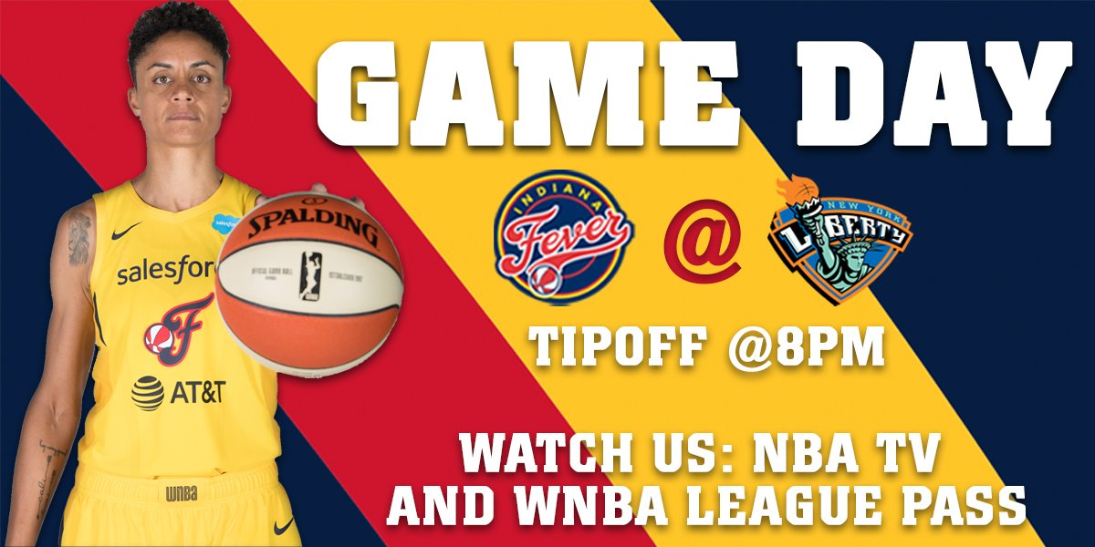 GAME DAY!  Fever vs. Liberty ⏰: 8:00p ET 📍: Westchester County Center 📺: @NBATV  📱: @WNBA League Pass 📝: https://on.nba.com/2X1WIOV