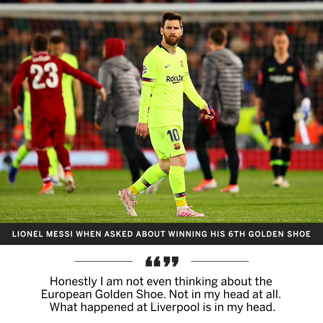 Messi can't get over that Liverpool game.
