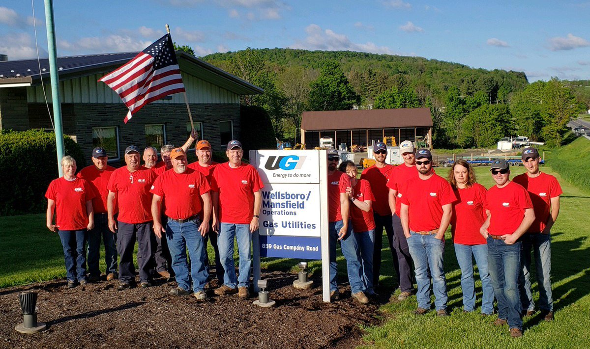 test Twitter Media - UGI employees from Wellsboro show their support for fellow team member, Cris Wood, who is currently serving overseas on a NATO-based mission.   Please join UGI in honoring all who serve or are veterans of the armed forces during Military Appreciation Month! #UGIStrong #NMAM https://t.co/P5Il7AN9FN