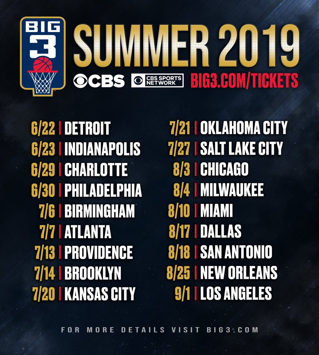 See you this summer! 💥💥💥 — Tickets ON SALE NOW at big3.com/tickets