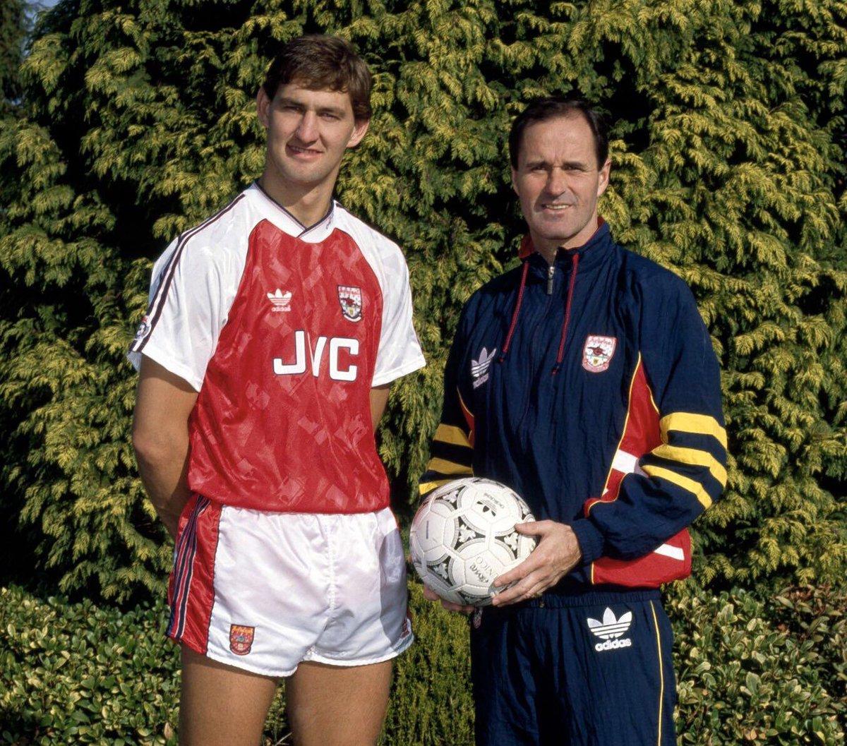 Tony Adams and George Graham in 1992 and 2019 #Arsenal   [ by Bob Thomas &amp; Stuart MacFarlane]<br>http://pic.twitter.com/5fvasedGae