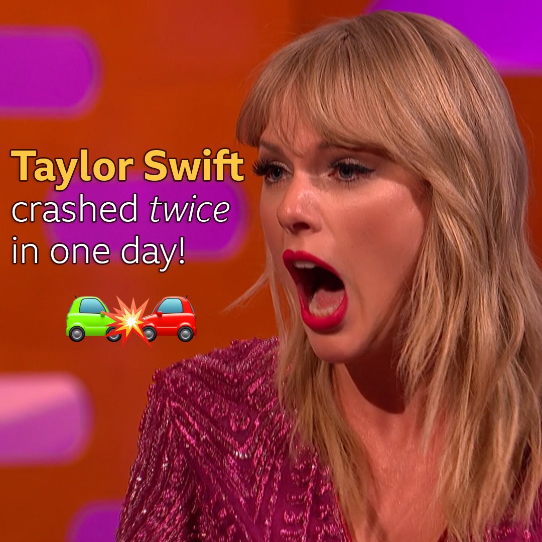 That time @taylorswift13 crashed TWICE in one day with a journalist in the car 😱  @hiattb #TheGNShow