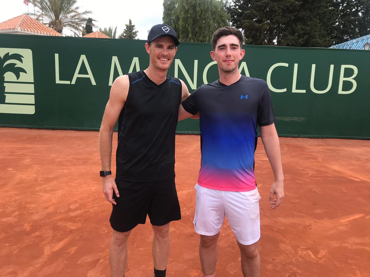 Great few days prep for French Open at @LaMangaClub  with @conthom16 and Andy Murray's wardrobe.  🏴 🎾