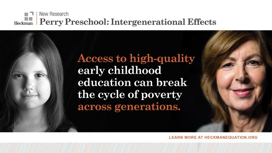 Study High Quality Early Education >> Prof James Heckman Heckmanequation Twitter
