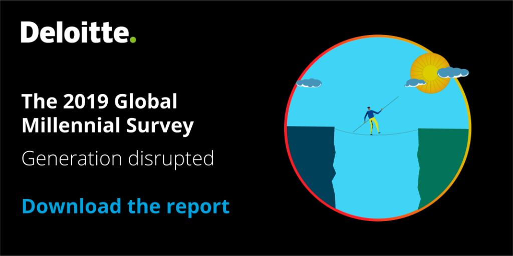 73% of millennials and GenZs think political leaders are failing to have a positive impact on the world. Read more in our 2019 Global #MillennialSurvey https://deloi.tt/2Jz2BA5