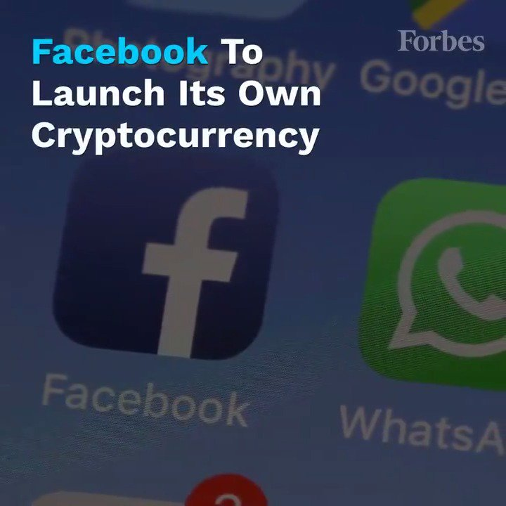 Facebook is gearing up to launch a rival to bitcoin as soon as next year as it accelerates plans to diversify its revenue away from advertising https://www.forbes.com/sites/billybambrough/2019/05/24/facebook-and-whatsapp-break-cover-with-bitcoin-rival-plans/?utm_source=twitter_video&utm_medium=social&utm_campaign=forbes…