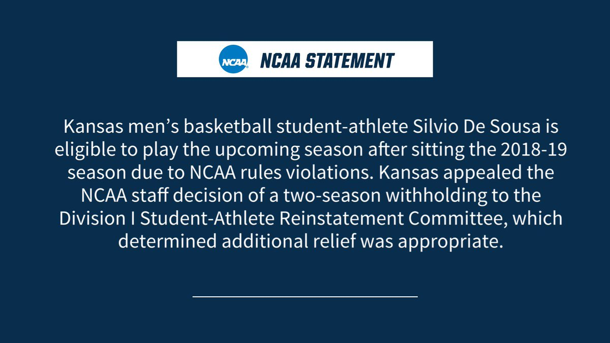 NCAA Makes Decision On Silvio De Sousa's Eligibility