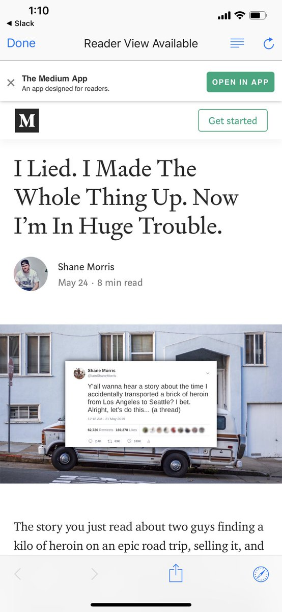 """The guy who wrote the viral thread about finding heroin in an old van and scamming MS-13 just admitted it was a huge lie, calls himself an """"opportunistic asshole with a brilliant imagination"""" and started a GoFundMe because IDK why"""
