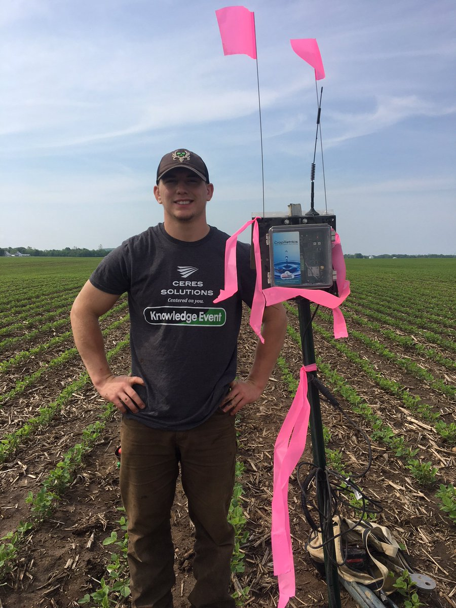 We have had plenty of moisture around the trade area, however we are still installing our soil  moisture probes today around Lafayette. Laine Freeze, Ceres intern installed the unit. #plant19 #Coreagronomics