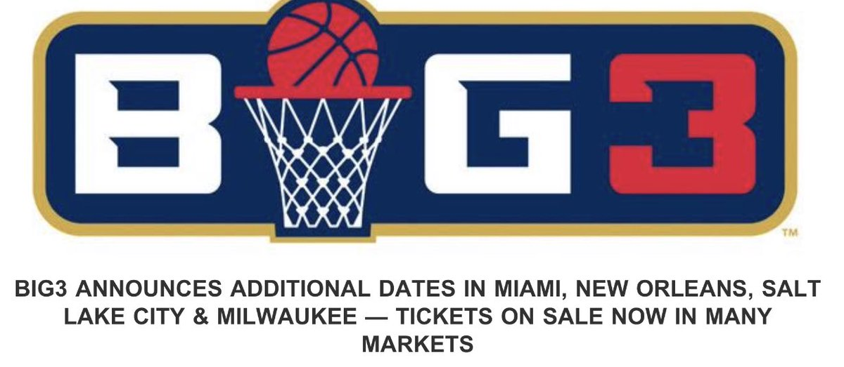Big 3 added more dates/games coming to Miami August 10th. 🔥🔥🔥