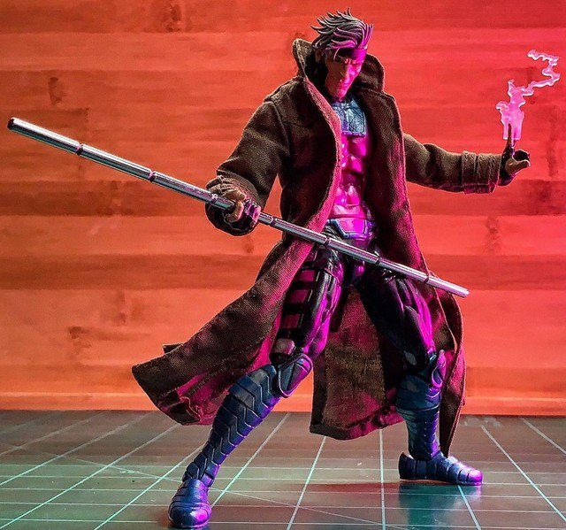 """Reposting: @kylerobinsoncustoms  -  Finished Gambit's steel bowstaff. Posted every step for y'all in my stories. If you missed it, you can find the mini tutorial in my """"#gambit #wip"""" highlight. Now on to painting this dude.#customizer #custom #customfigure #customactionfigures"""