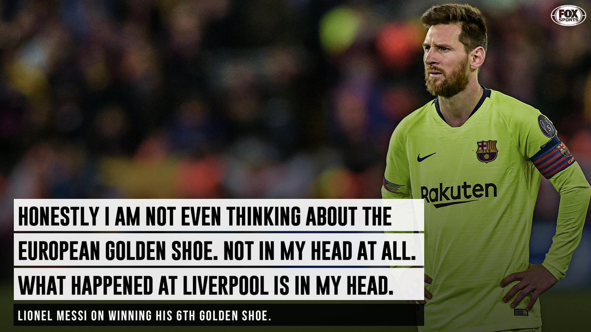 The Champions League loss is still giving Messi nightmares.