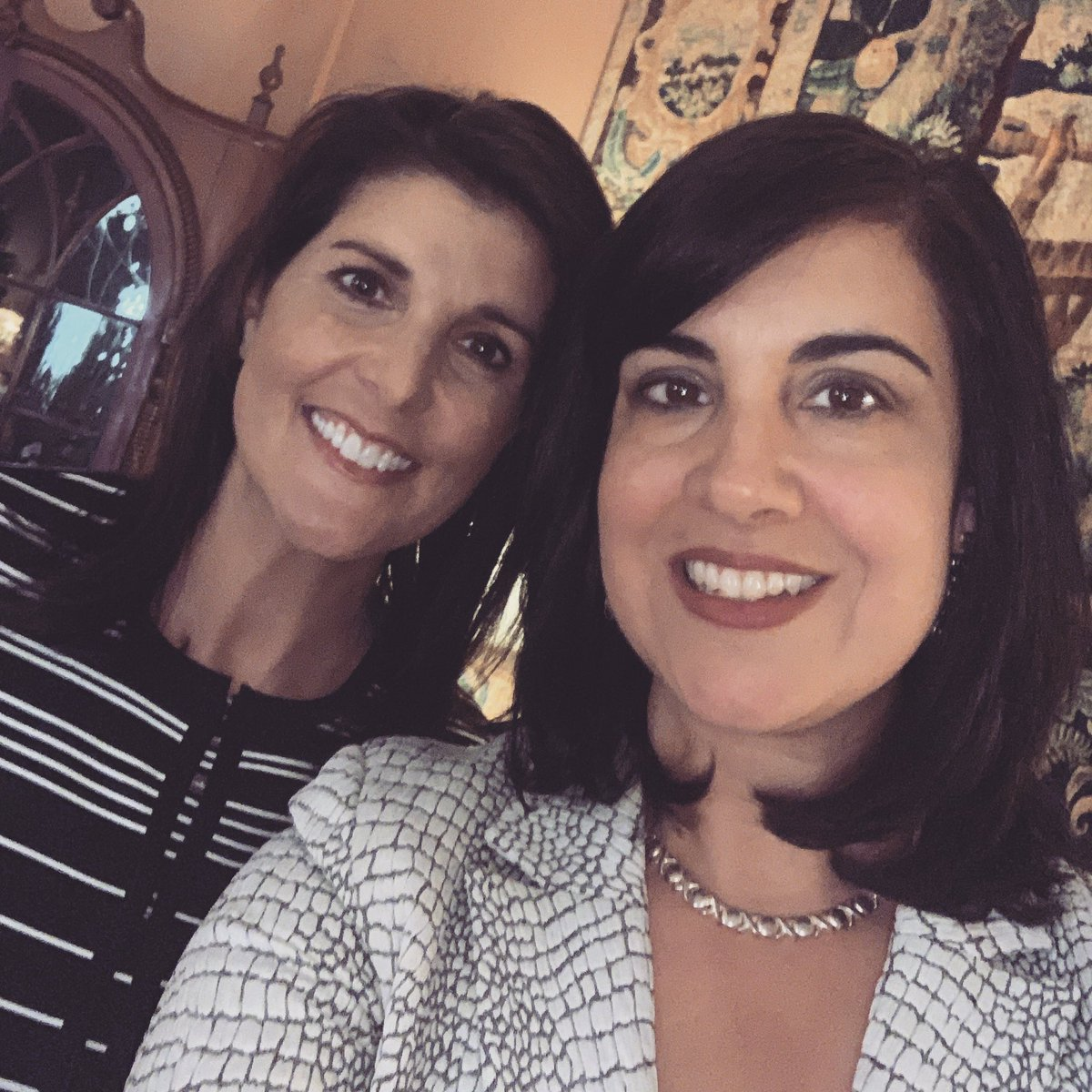 Great to be with @NikkiHaley a great Governor &amp; Ambassador...and strong  Republican woman! Now a New York resident too! <br>http://pic.twitter.com/Zwwe7QJcfA