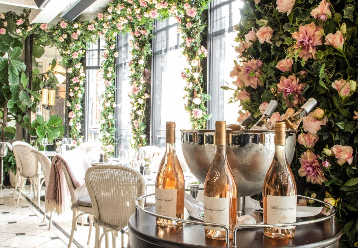 c2ade9e6086 #RoséSeason is blossoming on @WildeDublin terrace with a breathtaking  installation by @Appassionataflo. Experience the most glamorous shade of  #wine on the ...