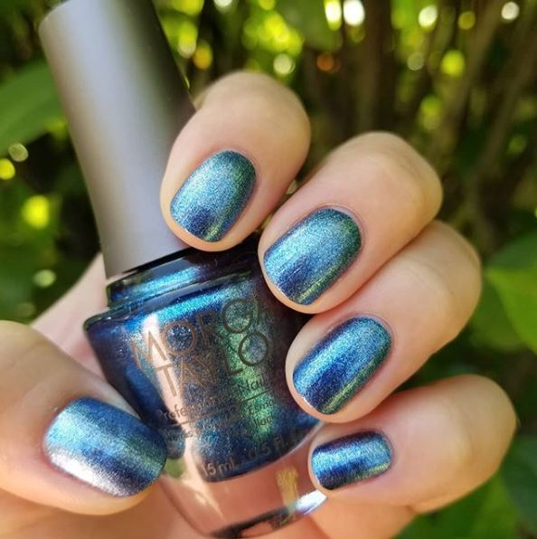 Drop a 💙 if you want Rhythm and Blues for your next mani! Shade Shown: Rhythm and Blues #MorganTaylor #lacquer #manicure