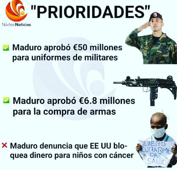 Resultado de imagen para Maduro compra ametralladoras mientras los niños del J.M. de Ríos mueren de cáncer