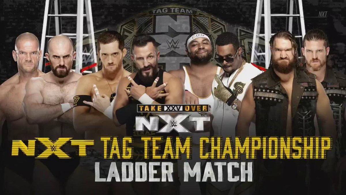 Can't wait to watch the huge #Fatal4Way #LadderMatch for the #NXTTagTitles at #NXTTakeOver!