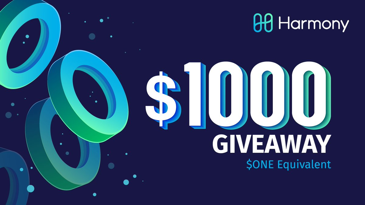 Just over 12 hours left to try and win yourself some @harmonyprotocol $ONE tokens!