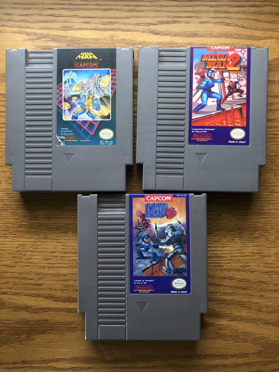 So many hours spent playing these cartridges.  #MegaManWeek https://t.co/6wVLtklm49
