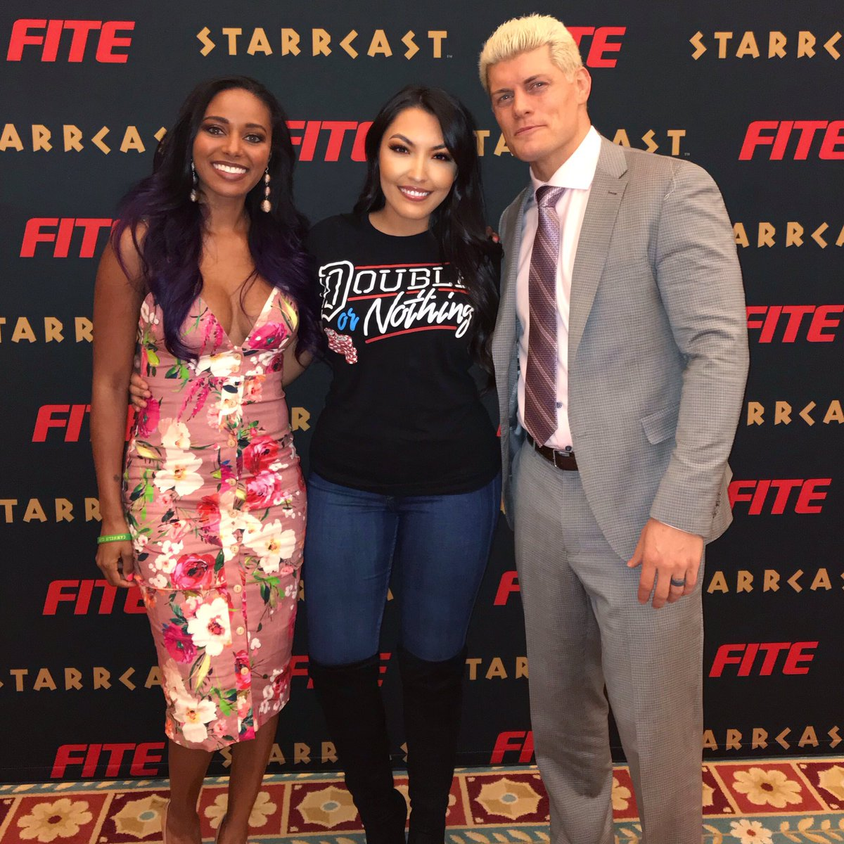 The power couple! It was so great to meet these two! Big congratulations to them and the AEW company! You guys have changed my outlook on wrestling this weekend and I am forever grateful! I really look up to these two and I can't wait to see what the future holds! #AEW