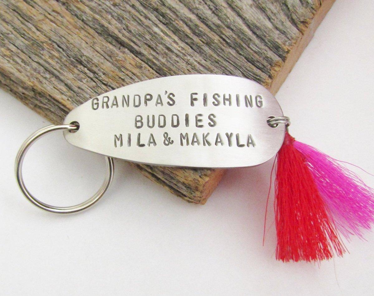 Grandpa Gift for Christmas Grandpa Keychain Grandparent Key Chain Grandpa's Fishing Buddies New Grandpa Gift for Grandparent Fishing Lure http://tuppu.net/fc1bc6f0 #CandTCustomLures #Shopify #Key_chain