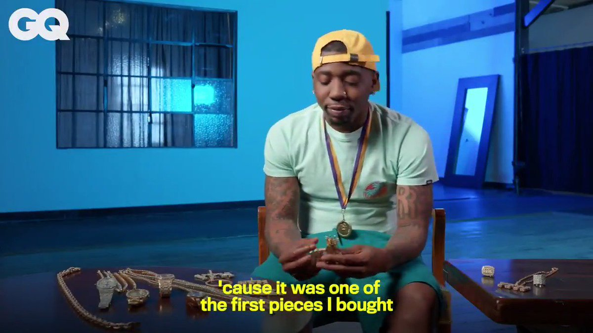 Watch as @YFNLUCCI shows off his jewelry collection, from his $50K diamond chain necklace to his $70K rose gold chain, for #GQOnTheRocks FULL VIDEO: http://youtu.be/Ljxqo9U2pc0