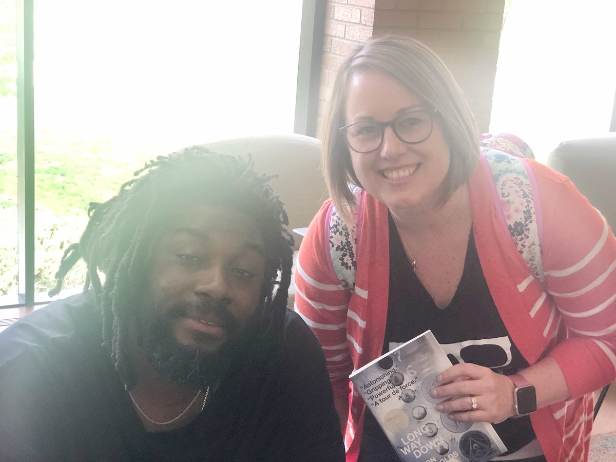 Had the pleasure of hearing @JasonReynolds83 speak and chat a bit about books!