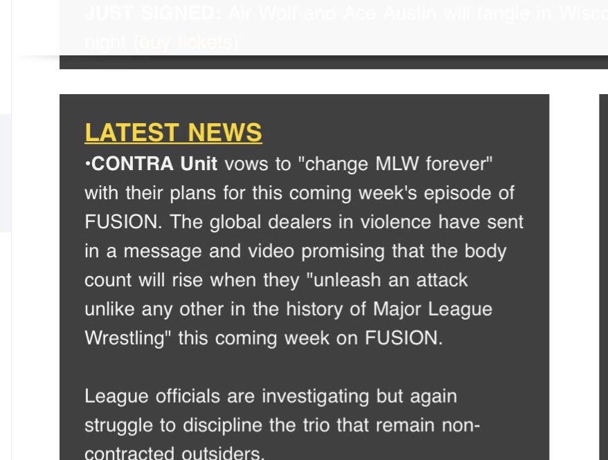 I'll keep this short, I really hope @MLW know what they have to do if #ContraUnit did something very crazy.