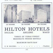 First Hotel Company to Offer Running Water & AC! In 1927, Hilton opens its first hotel the Waco Hilton in Waco, Texas with cold running water and air-conditioning in the public rooms. #HILTON100 @hiltonnewsroom @Hilton @Hiltonhonors https://t.co/LhGQYm9saN