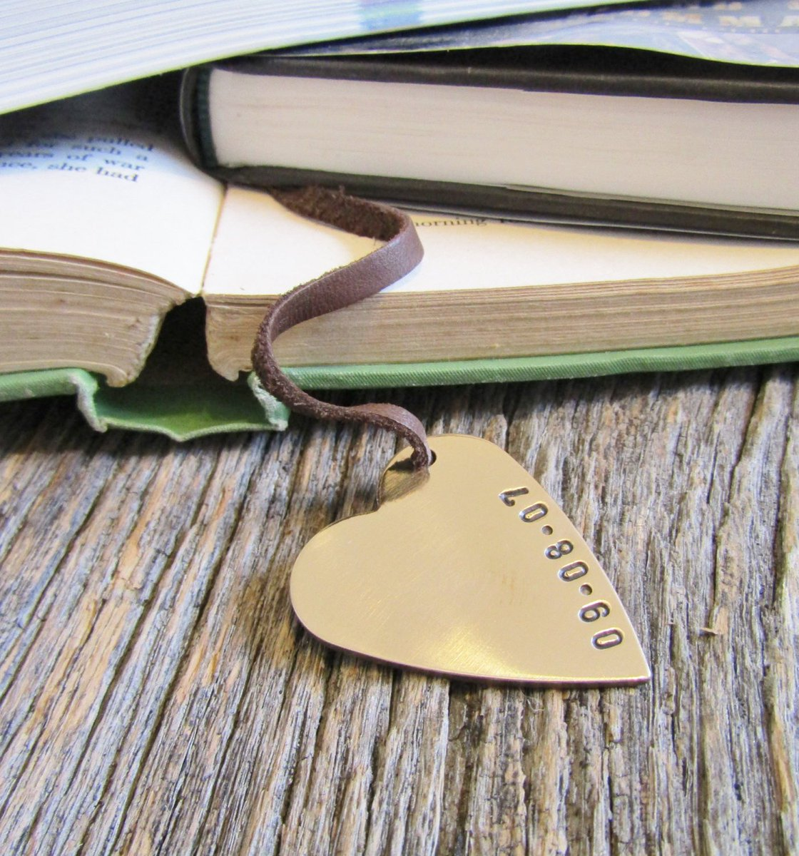 Anniversary Bookmark Personalized Wedding Bookmark for Him Bookmarks for Wife Anniversary Gift Bronze Book Mark Copper Gift for Husband Men http://tuppu.net/653c1bf4 #CandTCustomLures #Shopify #Books_and_zines