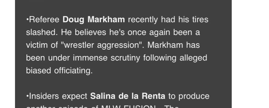 The story about @DougMarkham123 is very interesting after his situation with Swann & Reed. Look forward to seeing more in the future if it get serious. #MLWFusion