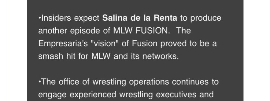 I'm in if Salina is the producer of an future @MLW episode! #MLWFusion